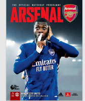 Arsenal v Manchester United Premier League 30-1-21 - Electronic Programme RARE
