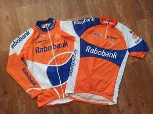 Men's AGU Giant Rabobank Road Race Jersey Shirt Jacket Set Size M