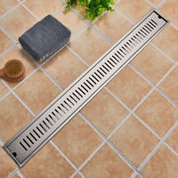 70*10cm Duschrinne 304 Edelstahl Bodenablauf Ablauf Rinne Duschablaufrinne