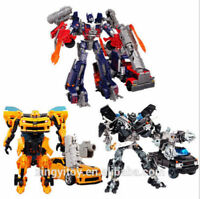 Transformers Autobots 3x Optimus Prime Bumble Bee Ironehide Cars Action Figures