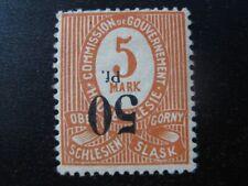 OBERSCHLESIEN GERMAN PLEBISCITES Mi. #12 K inverted overprint stamp! CV $--,--