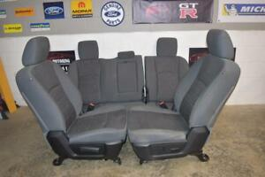 13-18 DODGE RAM FRONT & REAR SEAT SLATE GRAY SET OEM GOOD CONDITION full 4 door