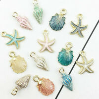 13X Conch Sea Shell Pendant DIY Charms For Jewelry Making Handmade Accessories