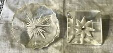 New listing Vintage 2 Reverse Carved Lucite Buttons 127-38