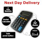 SMALL/MINI POCKET CALCULATOR School Office Home Stationery 8 Digit Solar Power