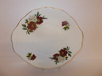 Crown Royal Bone China Cake Bread Sandwich Plate with Floral Design Lovely