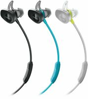 Bose SoundSport Wireless Bluetooth In-Ear StayHear Headphones Black Citron Aqua