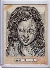 The Walking Dead Evolution Sketch Card Nicholas Baltra Walker Sofia SFC