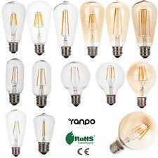 Vintage LED Edison Bulbs E27 2W 4W 6W 8W 12W LED Filament Light Retro 220V Lamps