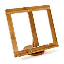 Libro Di Cucina Supporto Lettura Legno Bambù Ferma Stand 31x24cm