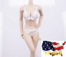 1/6 female white Lace Lingerie bra Panties set for Kumik Phicen hot toys ❶USA❶