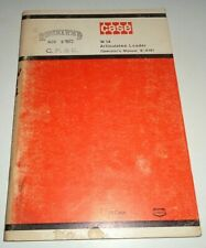 Case W14 Articulated Loader Operators Maintenance Owners Manual Original 9 4191