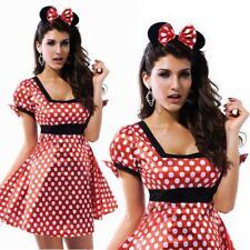 Sexy Minnie Mouse Christmas Halloween Party Ladies Girl Fancy Dress Up Costume L