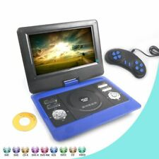 """10""""Portable DVD Player Rechargeable Swivel Screen 300 Free Game SD USB TV In Car"""