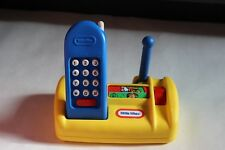 Cute HTF Little Tikes cordless Blue Phone with Yellow Base