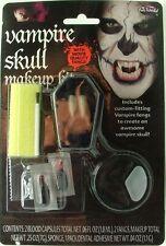 VAMPIRE SKULL Make-Up Set Kit with Fangs Halloween Fancy Dress Horror 9535