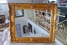 Großer Bilderrahmen Gemälde Barock Prunk Rahmen Holz Gold 54x44cm Antik Look NEU