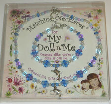 """My Doll n Me Matching Necklaces Blue Dolphin Set 12"""" Girl New Dress Alike"""