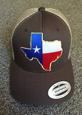 State of TEXAS Flag Hat Yupoong SnapBack Trucker Mesh Cap Made in the USA!