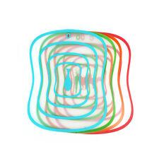 4x Tabla de Cortar Color Plástico ANTIADHERENTE ANTIDESLIZANTE Tablas de troceo
