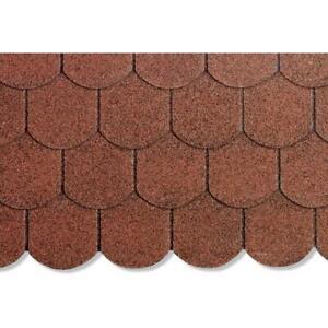 2 m² Biberschindel rot 1000 x 336 mm Bitumenschindel Dachpappe Bitumen NEU
