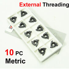 10PC Carbide Tip CNC External Threading Inserts 16ER Metric 60 Deg Lathe Tools