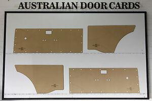 Holden Gemini Wagon. Door Cards, Blank Trim Panels TD, TE, TF, TG