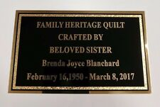 """3"""" x 5"""" Solid Brass Plate Picture Frame Art Memorial Name Tag FREE ENGRAVING"""