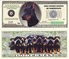 100 Doberman Pinscher Dog K-9 Novelty Money Bill #274