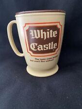 New Old Stock 6 Vintage 1980' White Castle Restaurant Ceramic Coffee Mugs 8 Oz