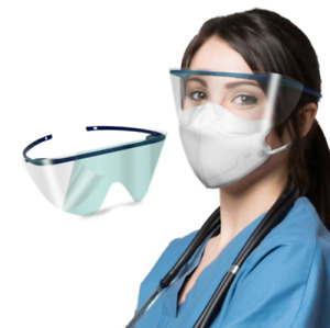 Pack of 10: Eye Face Shield  Transparent Clear Anti-fog Protector Detachable