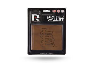 St Louis Cardinals STANDARD Authentic Embossed Leather Billfold Wallet NWT