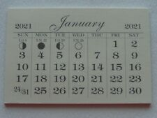 MINI 2021 MONTHLY TEAR OFF GOOD QUALITY CALENDAR PADS  BACK PAGE IS CARD STOCK
