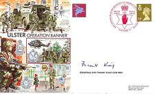 AF25c Northern Ireland Operation Banner PARA cover signed GENERAL SIR FRANK KING