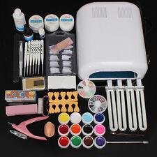 New Model 220V 36W UV Gel Dryer Lamp Nail Art Tips Manicure Tool Set Kit