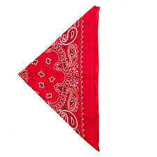 Printed Bandana Scarf Lux Accessories Red Paisley