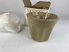 New listing Monkey Bread Pot Model 1617 Glazed Ceramic Boston Warehouse 1981