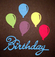 Scrapbooking - craft - card making - embellishments -BLUE birthday with balloons