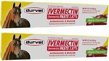 Durvet Horse Paste Apple Gel Equine Dewormer 1.87% Lot of 2 Boxes