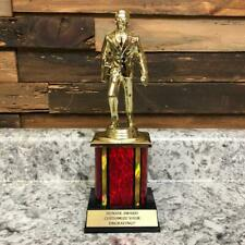 Dundie Award Trophy With Red Column The Office TV Show Best Salesman Gag Gift