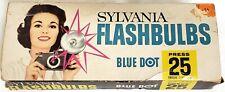 Vintage Sylvania Blue Dot Press 25 Flashbulbs Flash Bulbs Clear