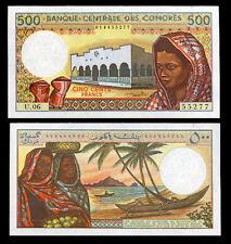 COMOROS COMORES 500 FRANCS 1994 P 10 B SIGN # 1 UNC