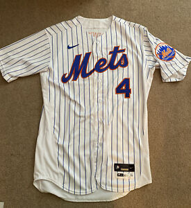 Jed Lowrie 2020 New York Mets Game Issued Pinstripe Baseball Jersey - MLB Holo