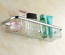 Polished Chrome Bathroom Wall Mount Shower Basket Shelves Caddy Storage  Gba514