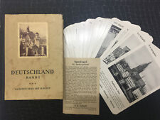 Authentic Antique Very Rare Old German Complete Card Set of 36 Cards in Box