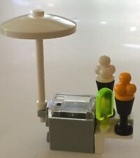 *NEW* 1 LEGO Minifig Food ICE CREAM CART POPSICLE