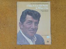 DEAN MARTIN Merle Haggard sheet music I Take a Lot of Pride in...1969 3 pp. NM