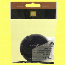 Genuine Nikon LC-62 Front Lens Cap 62mm Snap-On Lens Dust Cover Protector