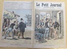 Le petit journal 1893 145 Avant / Après l'élection