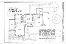 Roosevelt colonial country cottage, stone walls, sunroom, architectural plans